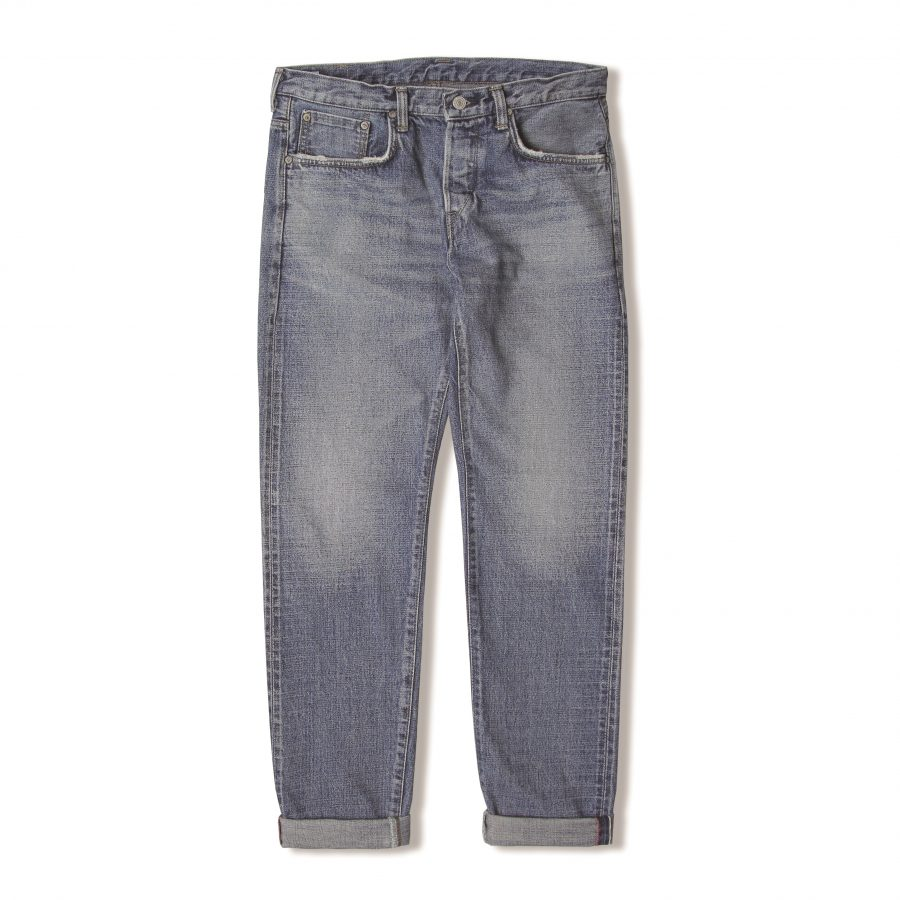 Edwin_japan_Regular_Tapered_Nihon_Menpu,_Open_Weave_Red_x_White_Selvage_14oz_blue_midused